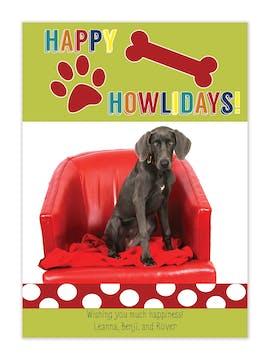 Dog Flat Photo Holiday Card