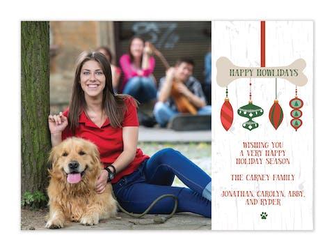 Happy Howlidays Flat Holiday Photo Card