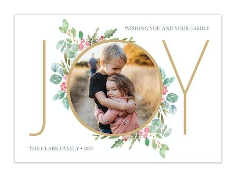 Abundance of Joy Holiday Photo Card