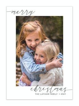 Simple Wish Holiday Photo Card