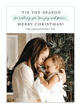 Tis the Season of Wishes Holiday Photo Card