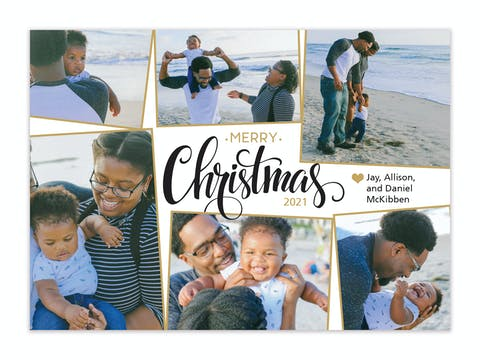 Merry Christmas Collage Holiday Photo Card