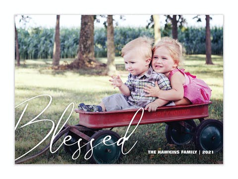 Blessed Holiday Photo Card
