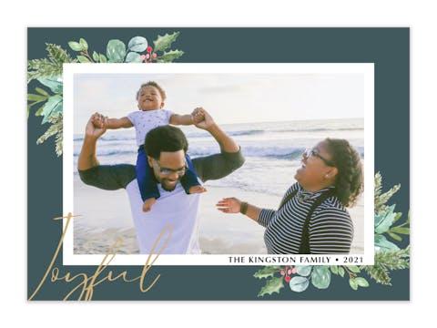 Joyful Frame Holiday Photo Card