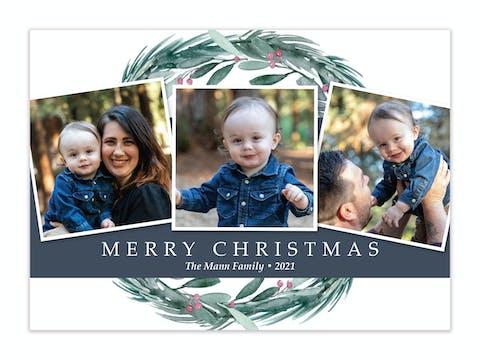 Wreath Holiday Photo Card