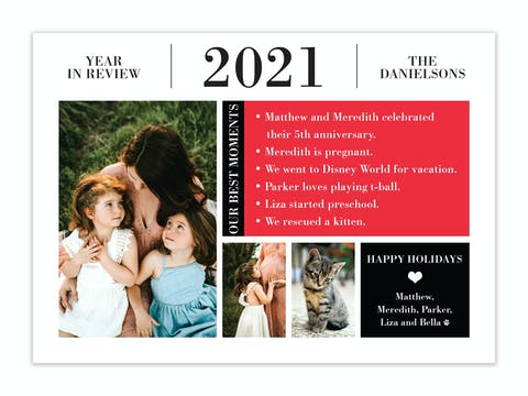 Year In Review Holiday Photo Card