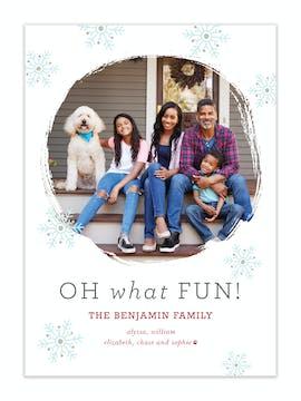 Snowflake Fun Holiday Photo Card