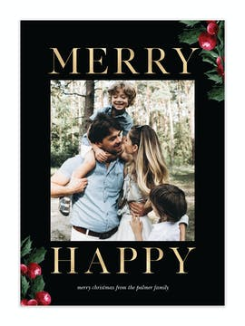 Merry Happy Holiday Photo Card