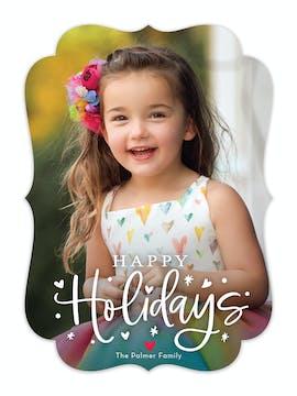 Happy Heart Holidays Holiday Photo Card