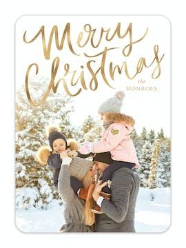 Brushed Holiday Photo Card
