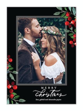 Berry Frame Holiday Photo Card