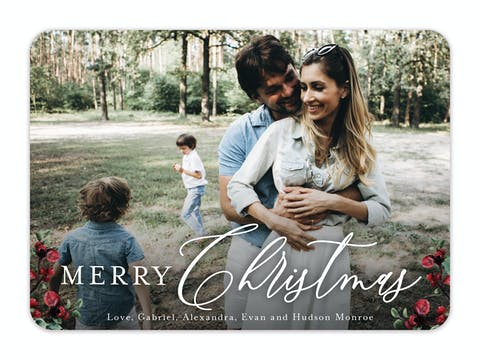 Rustic Berry Holiday Photo Card