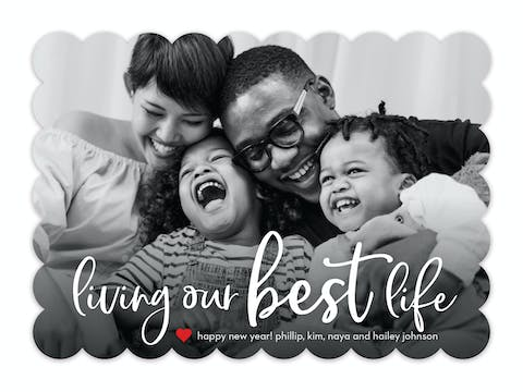Living Our Best Life Holiday Photo Card