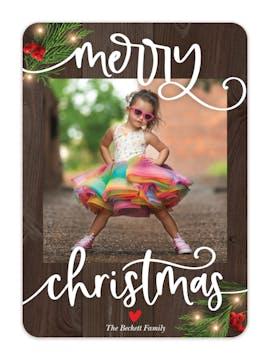 Barnwood Christmas Holiday Photo Card