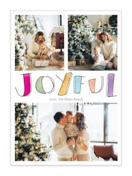 Painted Joyful Holiday Photo Card