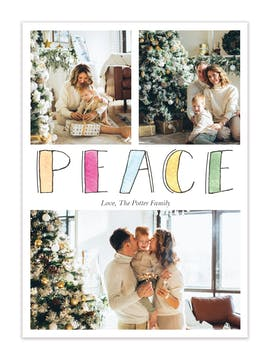 Painted Peace Holiday Photo Card