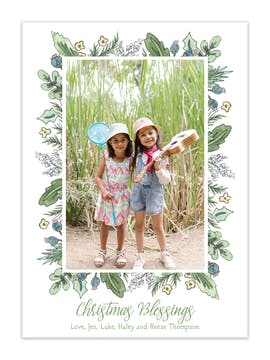 Festive Fronds Holiday Photo Card
