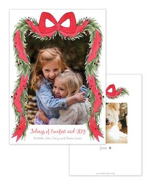 Holiday Berry Garland Holiday Photo Card