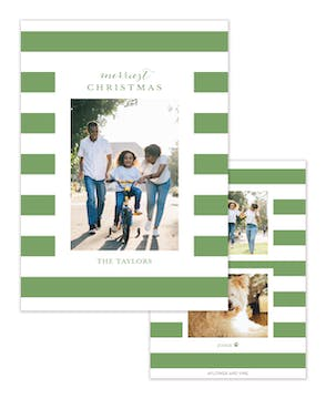 Thick Stripes Holiday Photo Card