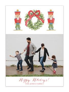 Nutcracker Wreath Holiday Photo Card