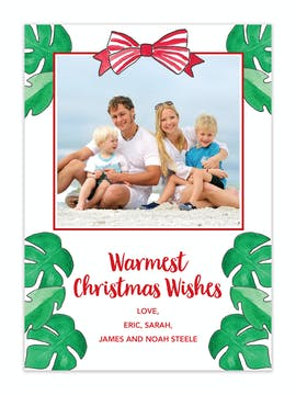 Warmest Wishes Holiday Photo Card