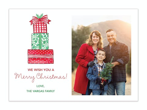 All Wrapped Up Holiday Photo Card