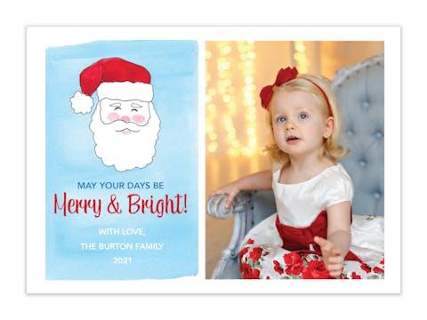 Jolly St. Nick Holiday Photo Card