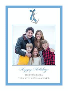 Coastal Holiday Holiday Photo Card