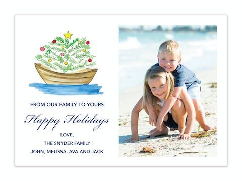 Christmas at Sea Holiday Photo Card