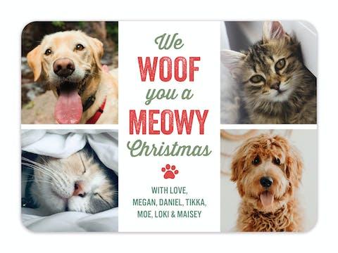 Woof Meowy Holiday Photo Card