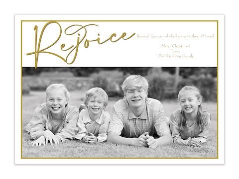 Rejoice Holiday Photo Card