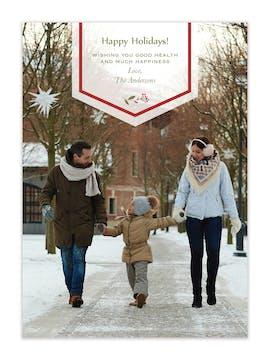 Holiday Banner Holiday Photo Card