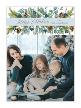 Flourishing Christmas Holiday Photo Card