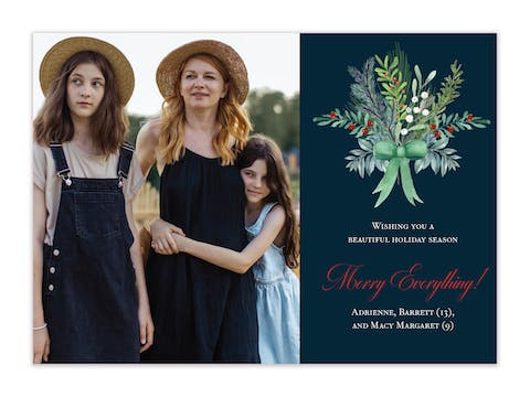 Evergreen Bouquet Holiday Photo Card