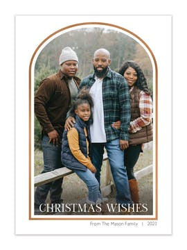 Arch Frame Foil Pressed Holiday Photo Card