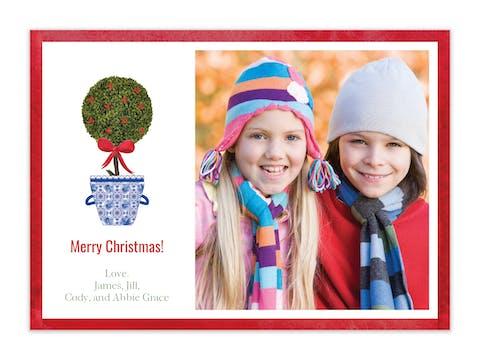 Holiday Topiary Holiday Photo Card