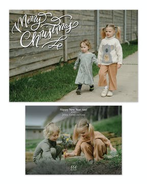 Merry Christmas Emblem Holiday Photo Card