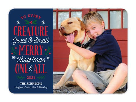 Every Creature Holiday Photo Card