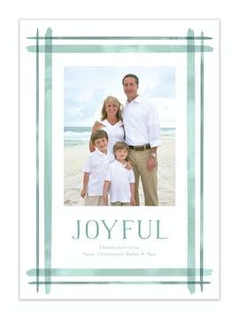 Beach Stripes Holiday Photo Card