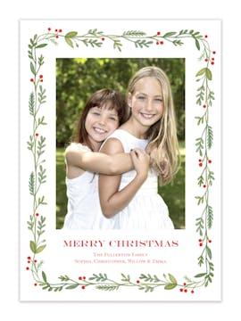 Bountiful Bough Holiday Photo Card