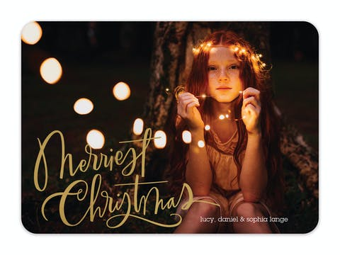 Christmas Whimsy Foil Pressed Holiday Photo Card