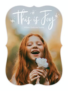 This Is Joy Holiday Photo Card