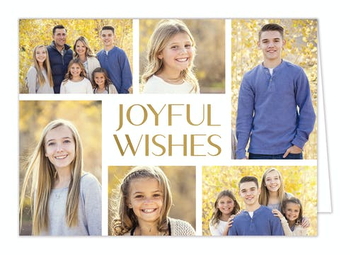 Shimmering Wishes Foil Pressed Holiday Photo Card