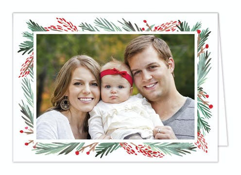 Blessed Bunch Folded Holiday Photo Card