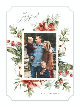 Seasonal Bouquet Holiday Photo Card