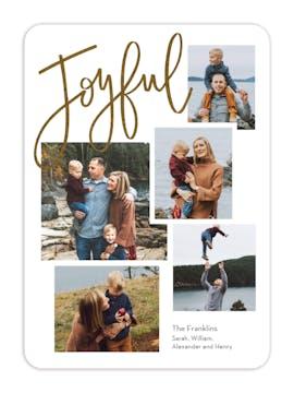 Just Joyful Foil Pressed Digital Photo Card