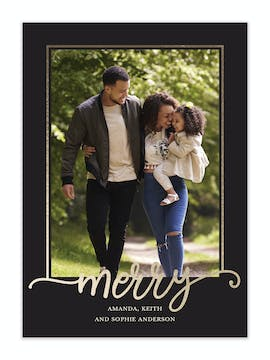 Merry Frame Holiday Photo Card