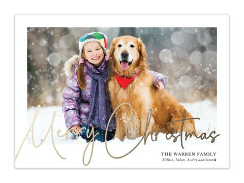 Classic Christmas Holiday Photo Card