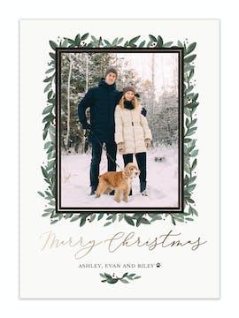 Botanical Frame Holiday Photo Card