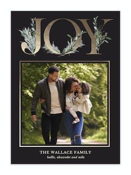 Floral Joy Holiday Photo Card